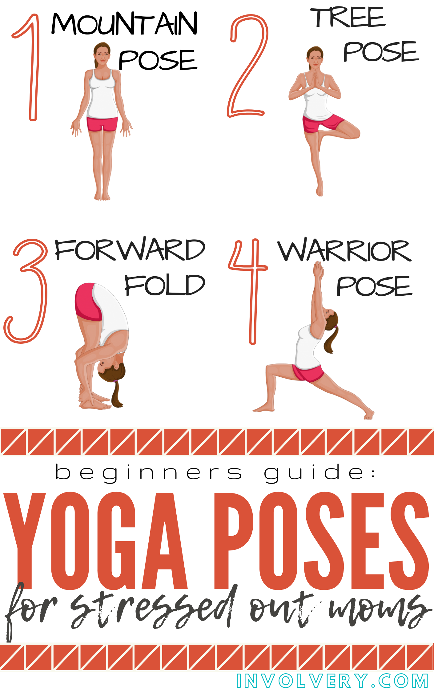 Easy Yoga Poses for Stressed Out Moms | Easy yoga poses ...