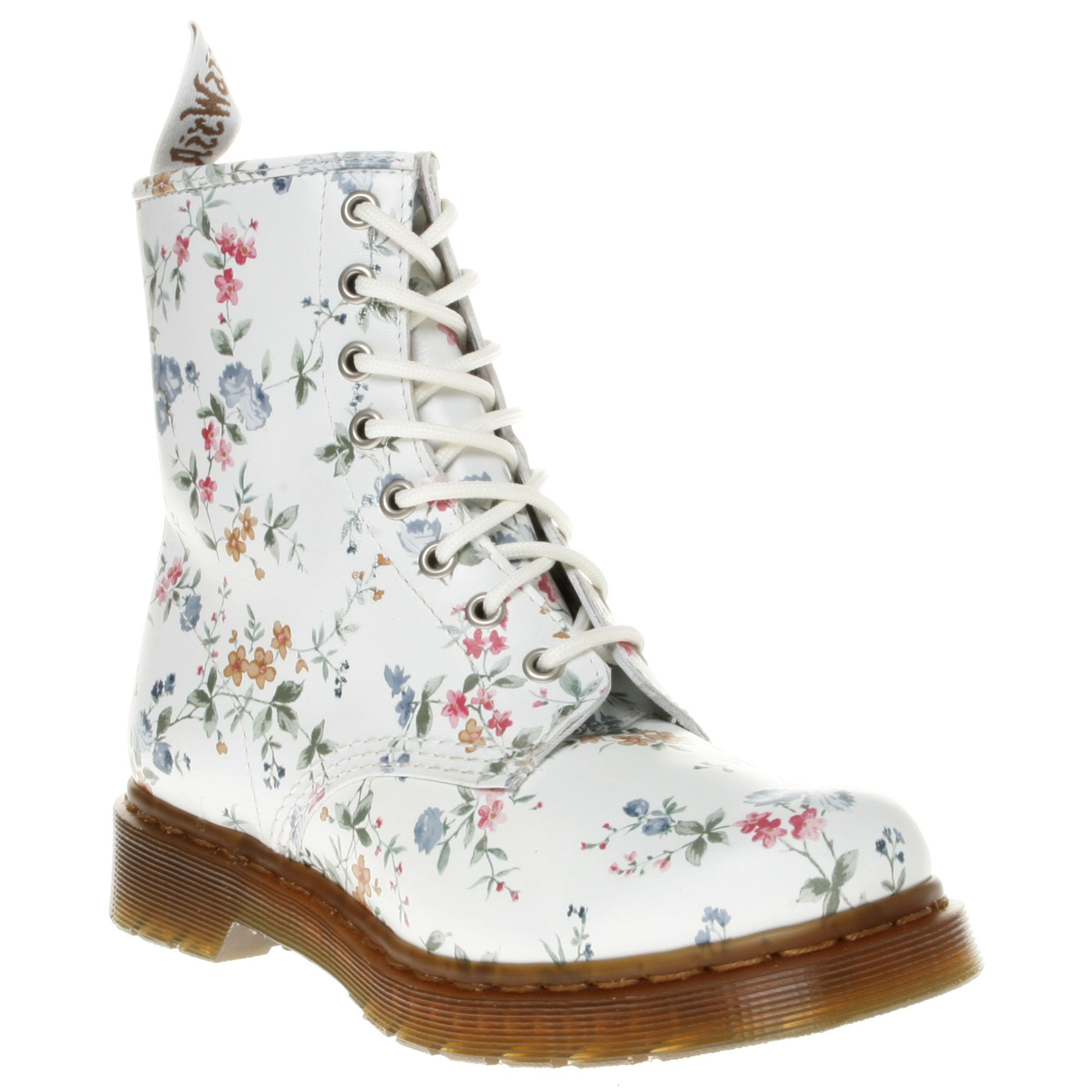 Dr martens 1460 boots white wild flowers leather shoespurses dr martens 1460 boots white wild flowers leather mightylinksfo
