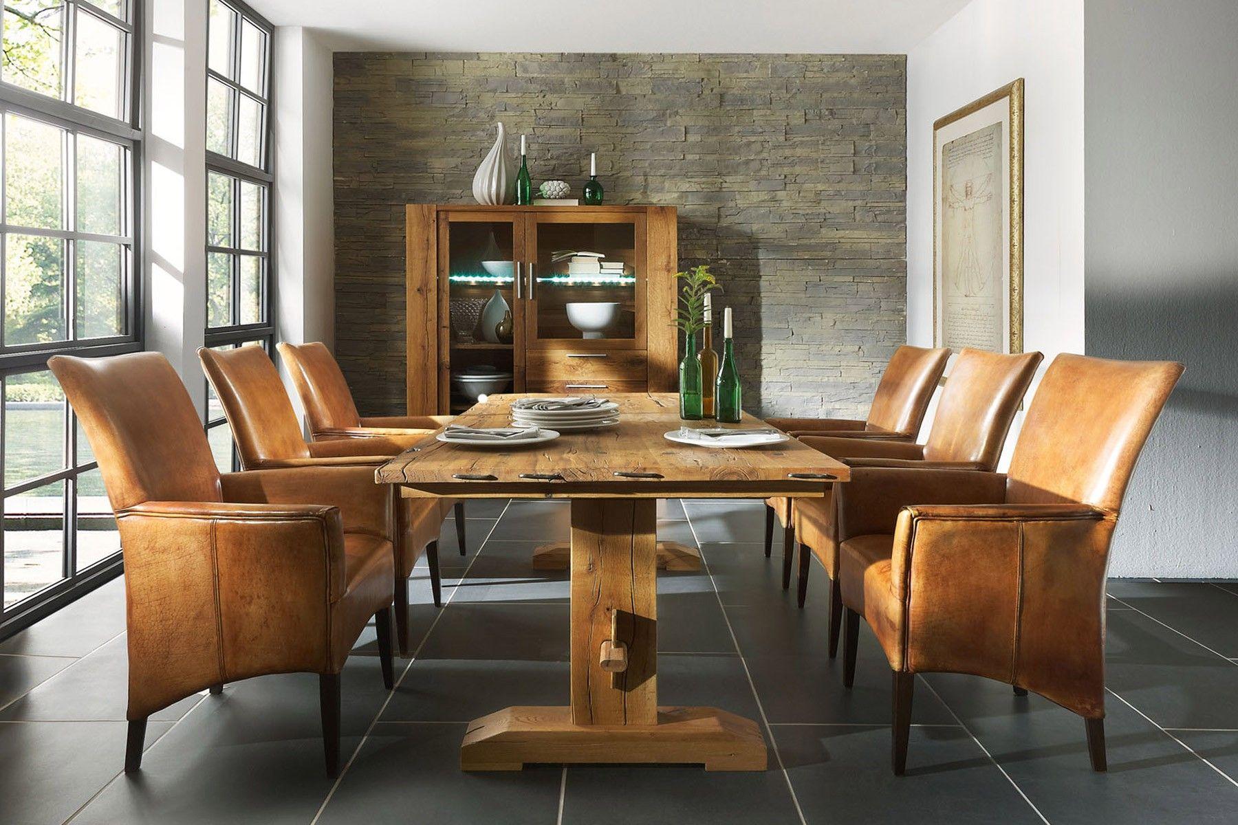 Esstisch massiv viko wildeiche esstische massiv pinterest esstisch tisch und esszimmer - Baumtisch esszimmer ...