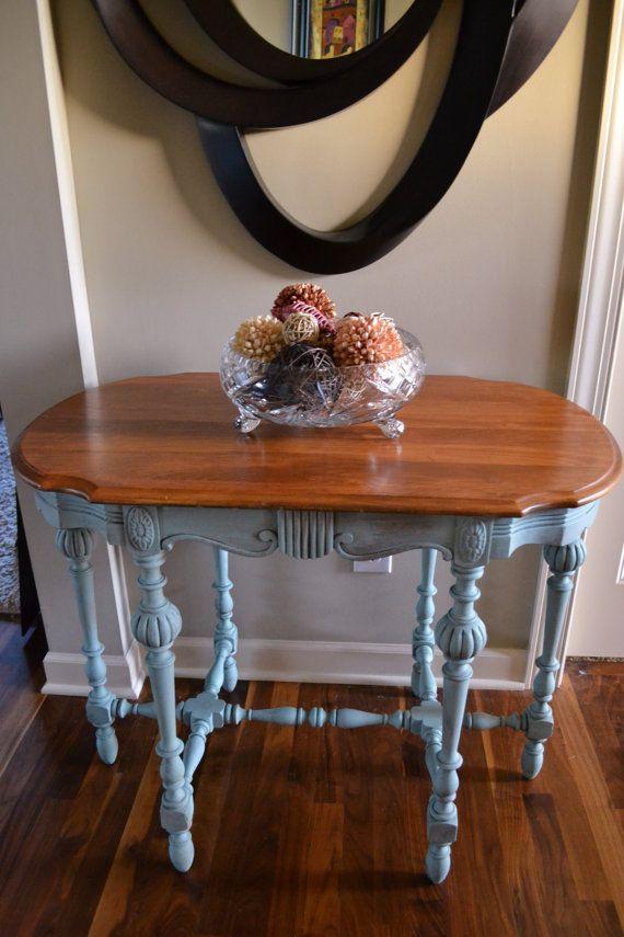 chalk painted annie sloan jacobean sofa or console by chalksolot rh pinterest com