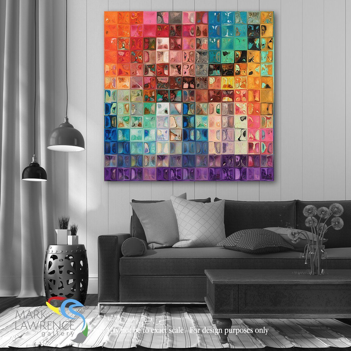 desigher room art inspiration rainbow refractions tile art large rh pinterest com