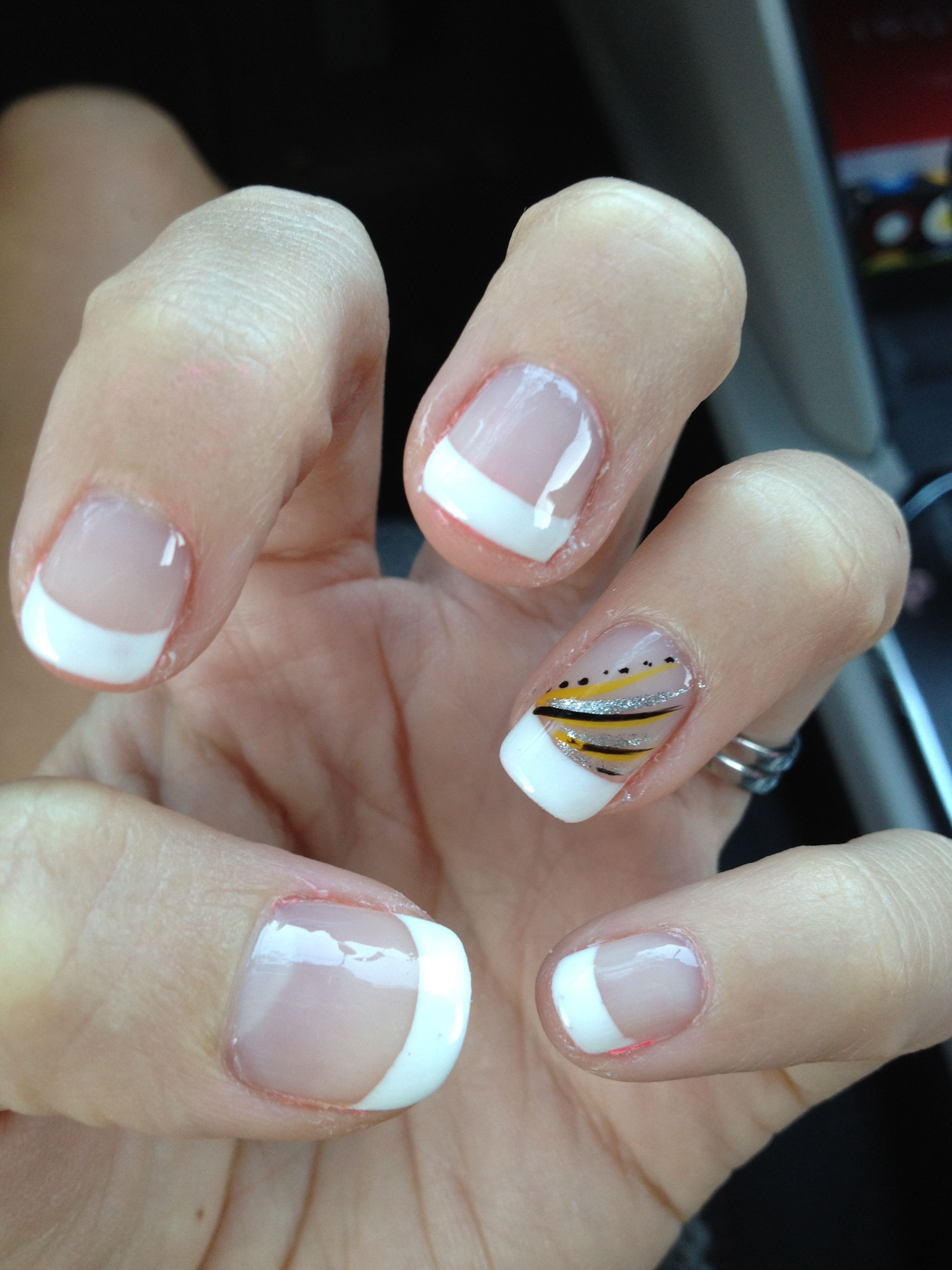 Yellow nail design, French manicure vacation fun! theegirlinyellow ...