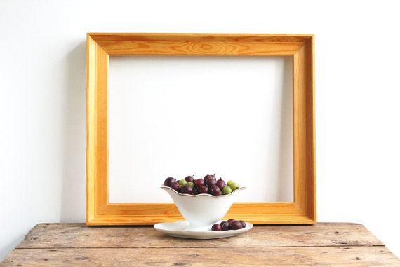 Vintage Swedish Wooden Frame, Wood Art Frame, Painting Frame, Large ...