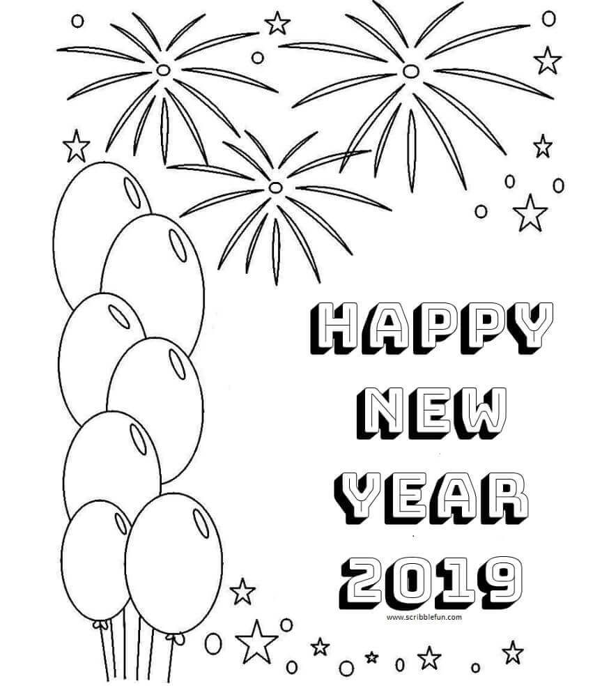 2019 New Year Coloring Pages Holidays Coloring Pages Coloring
