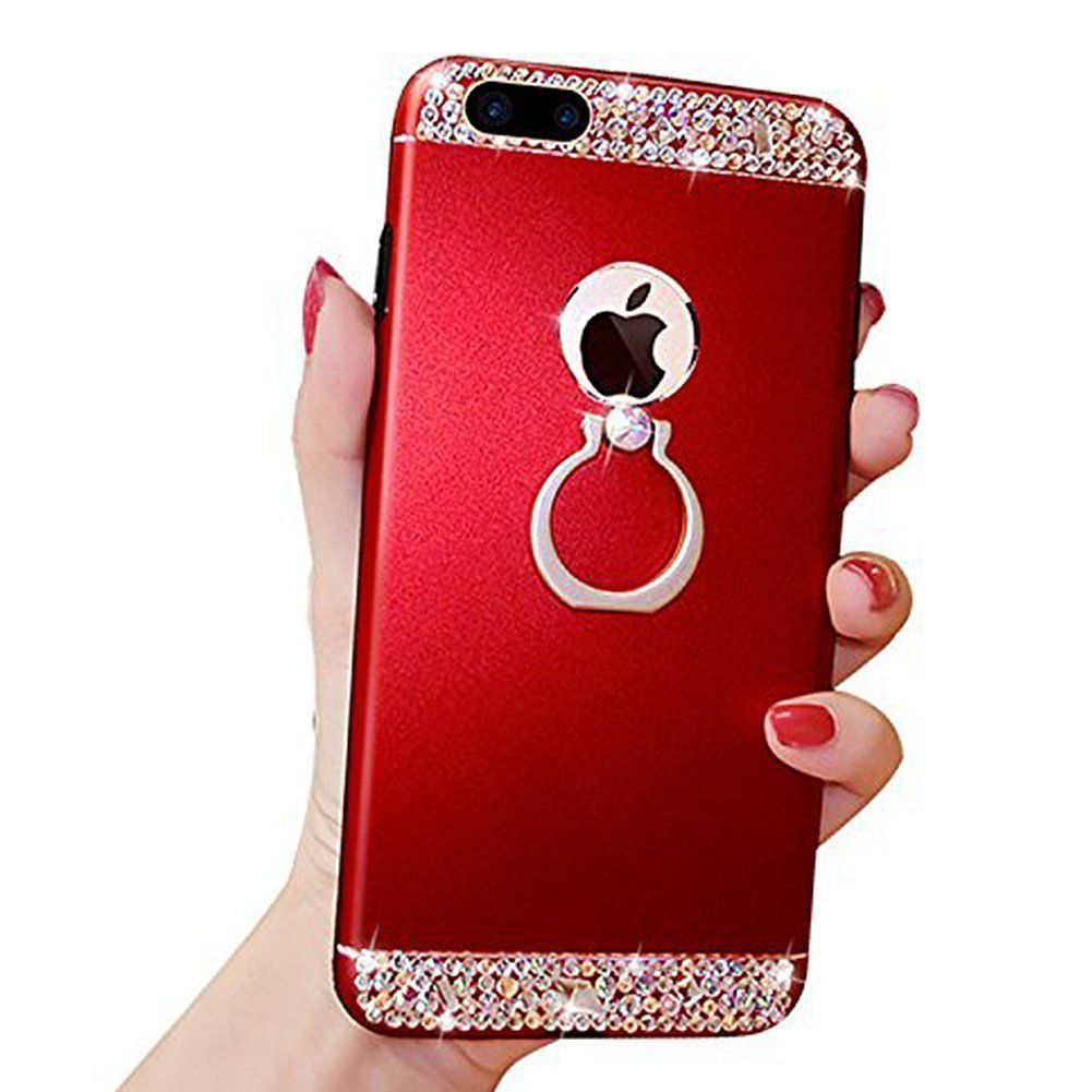 low priced 0556d ae19b iPhone 7 Case,iPhone 8 Case,Surakey Bling Glitter Crystal Rhinestone ...