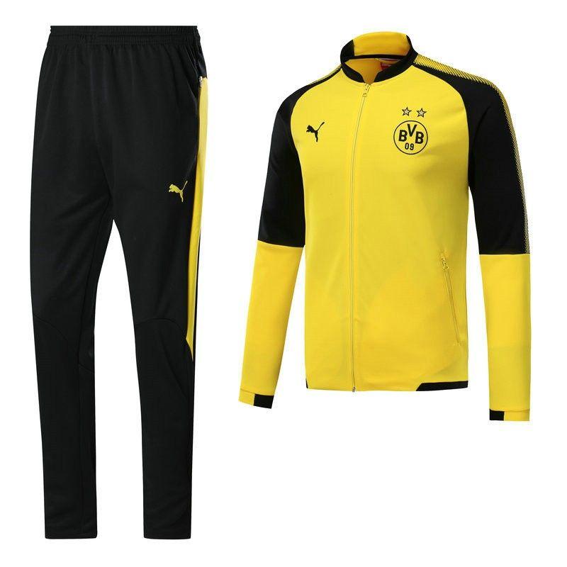survetement pas cher Dortmund BVB Jaune/Noir 2017/2018