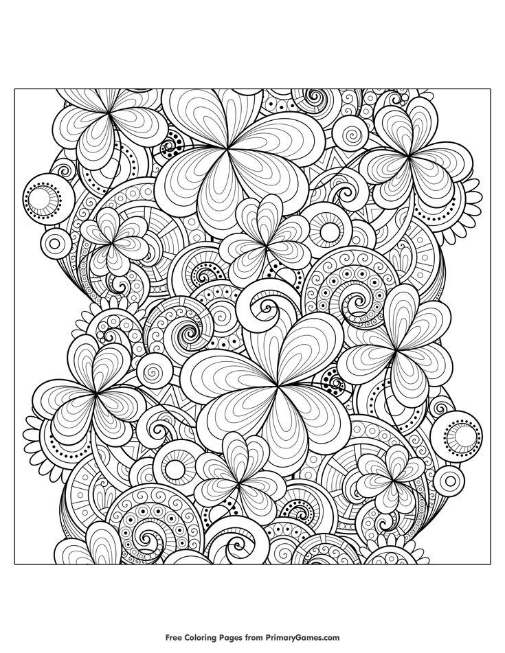 St. Patrick's Day Coloring Pages eBook: Zentangle Shamrocks ...