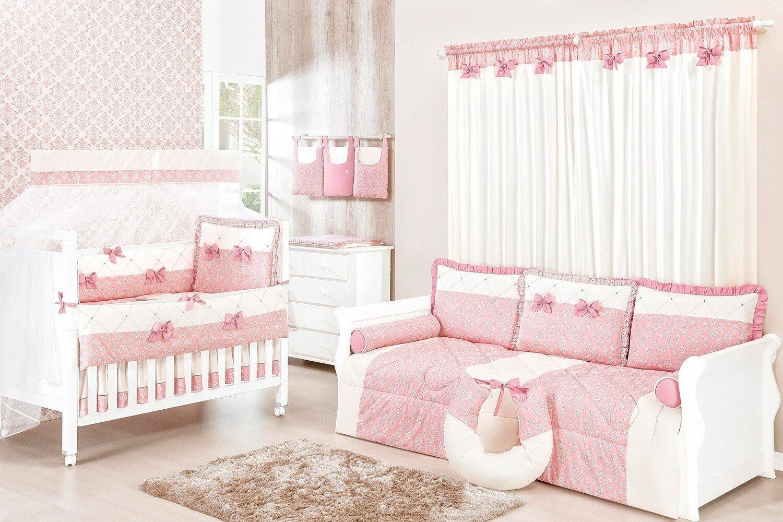 Quarto Para Beb Princesa Cl Ssica Rosa Antigo Quarto De Beb S E  ~ Biblioteca No Quarto E Quarto De Bebê Moderno
