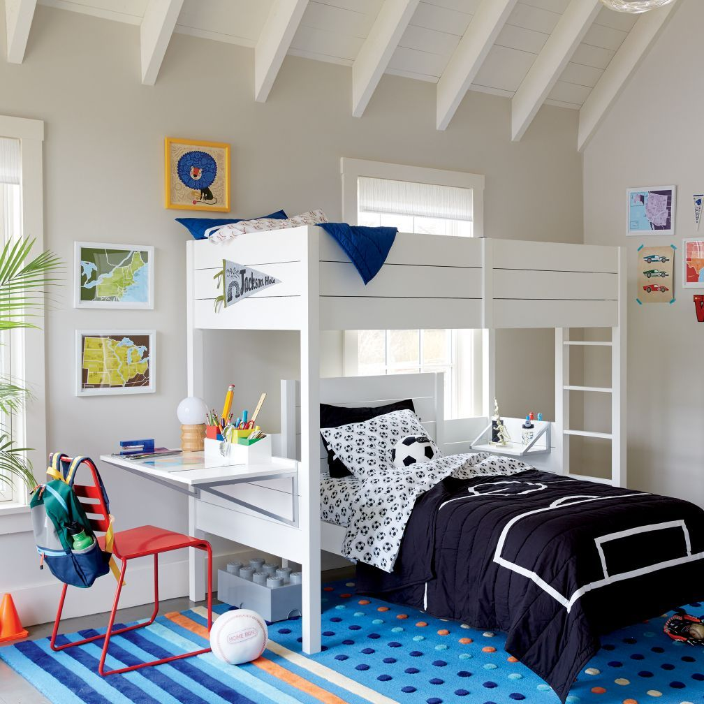 Uptown White Loft Bed The Land