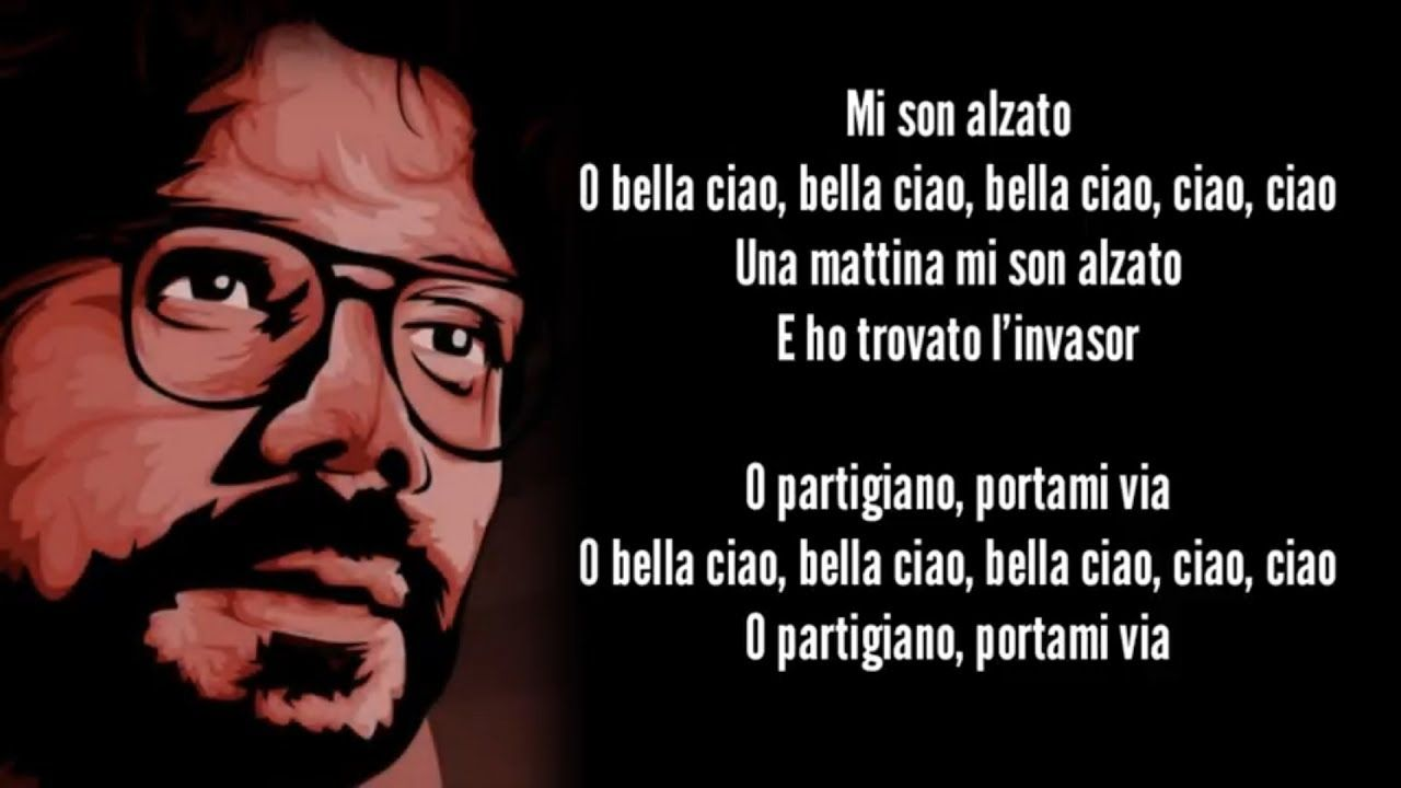 La Casa De Papel Bella Ciao Lyrics Video Money Heist Greek Subs English Subs Youtube Money Quotes Spanish Tv Shows Professor Quote