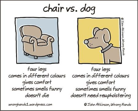 Chair Vs Dog Funny Cartoons Dog Jokes Dog Comics