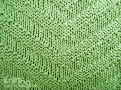 Simple knit and purl combinations | V-shaped knit stitch | Stitch