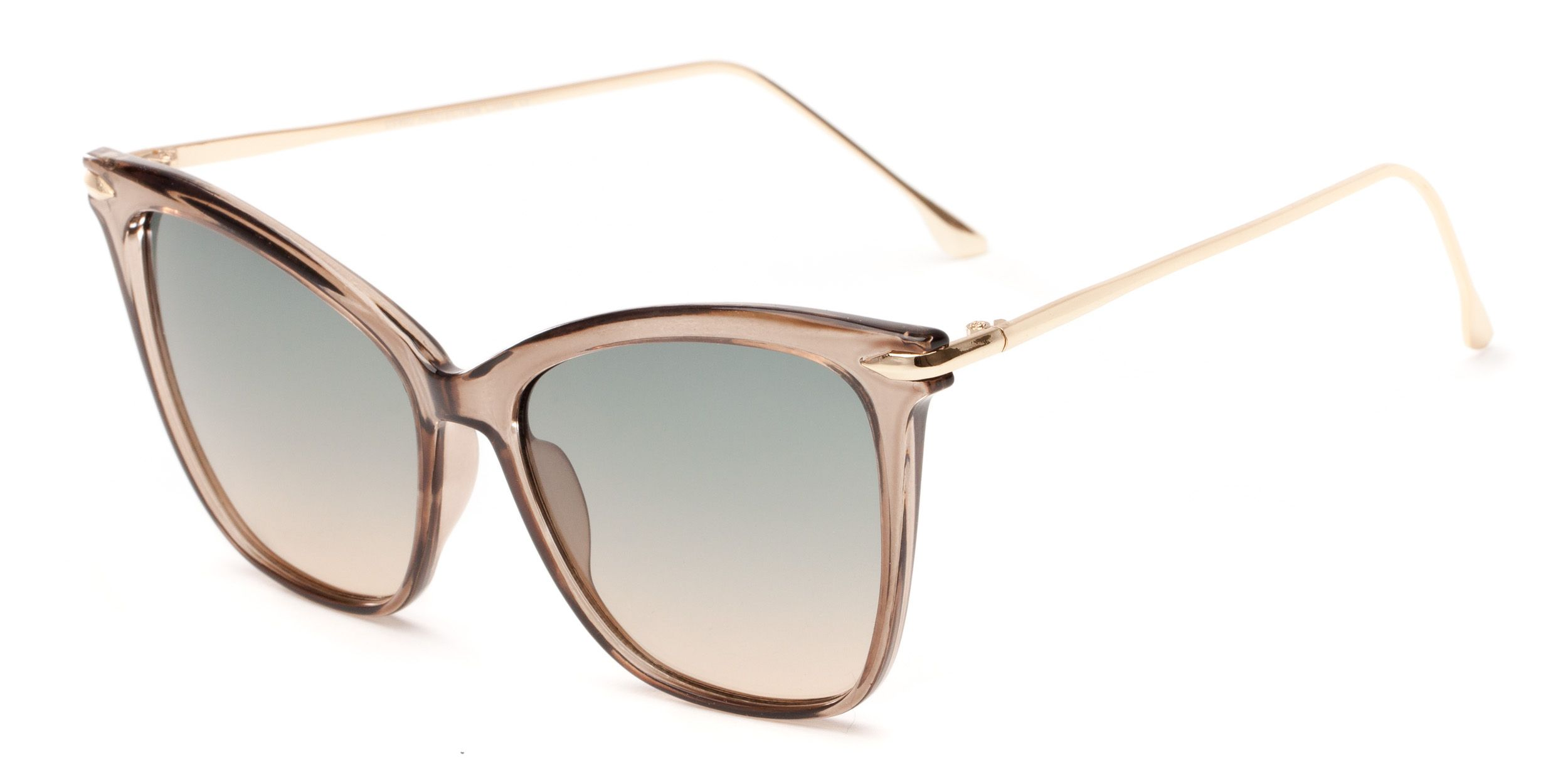 c6d04066b4f These oversized cat eye sunglasses have a combo frame with all metal  temples and pastel gradient UV lenses. So fetch.