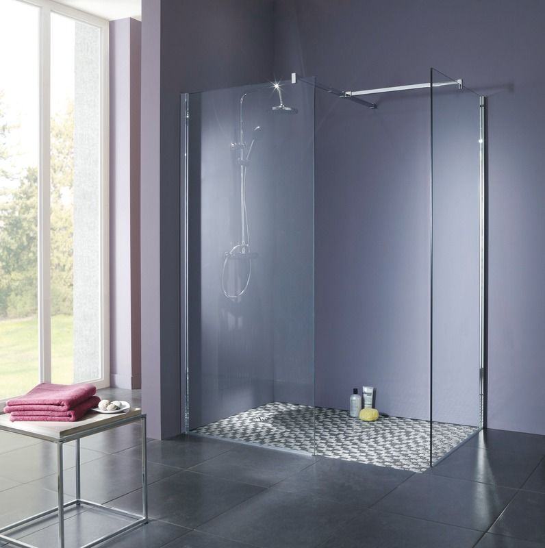 paroi kroma 90 cm verre transparent moretti salle de bains room bathtub et home decor. Black Bedroom Furniture Sets. Home Design Ideas