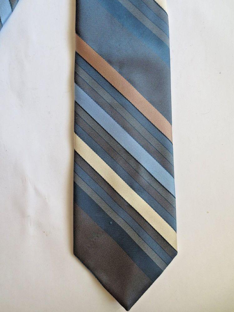 28c2afdfbd00 Vintage Striped LONG Necktie. Main color is Blue. Mr. Long, Beau Brummell  #BeauBrummell #Tie