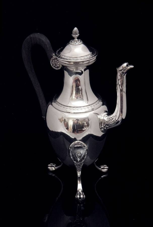 Silver Tray Coffee Table Decorating Ideas: COFFEE POT FROM 7pc. PUIFORCAT ANTIQUE STERLING SILVER TEA