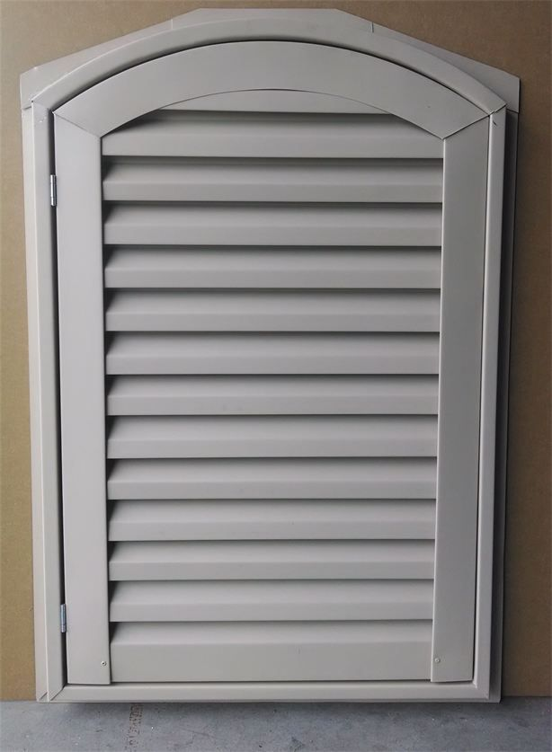 Hinged Arch Top Gable Vent Gable Vents Vented Aluminum Hinges