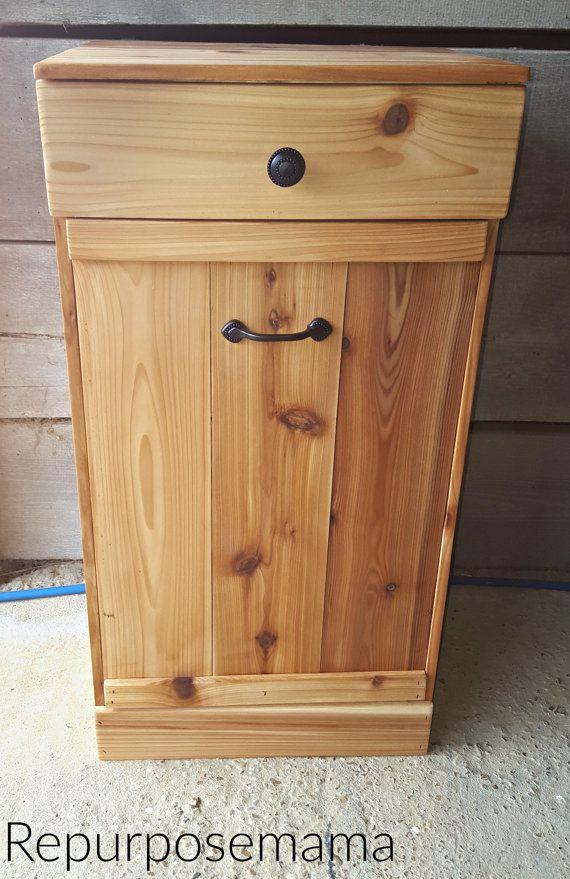 tilt out trash bin wood trash can on sale unfinished 149 00 this rh pinterest com
