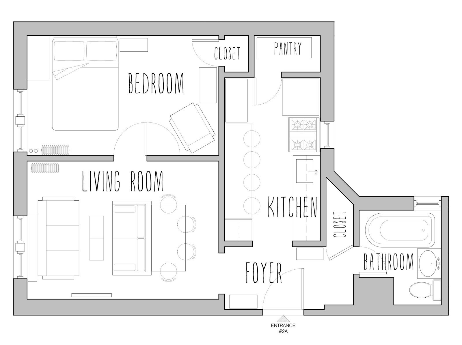 Pin By Bonnie George On Living Large At 500 Square Feet Small House Floor Plans House Floor Plans House Plans Farmhouse