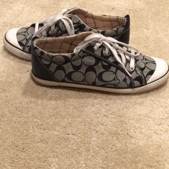 Authentic COACH sneakers Black and white coach sneakers. Coach Shoes Sneakers
