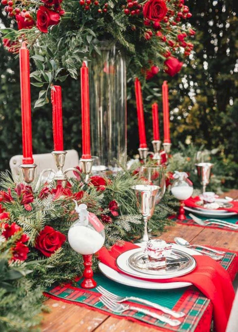 49 beautiful winter table decoration ideas for a romantic dinner rh pinterest com
