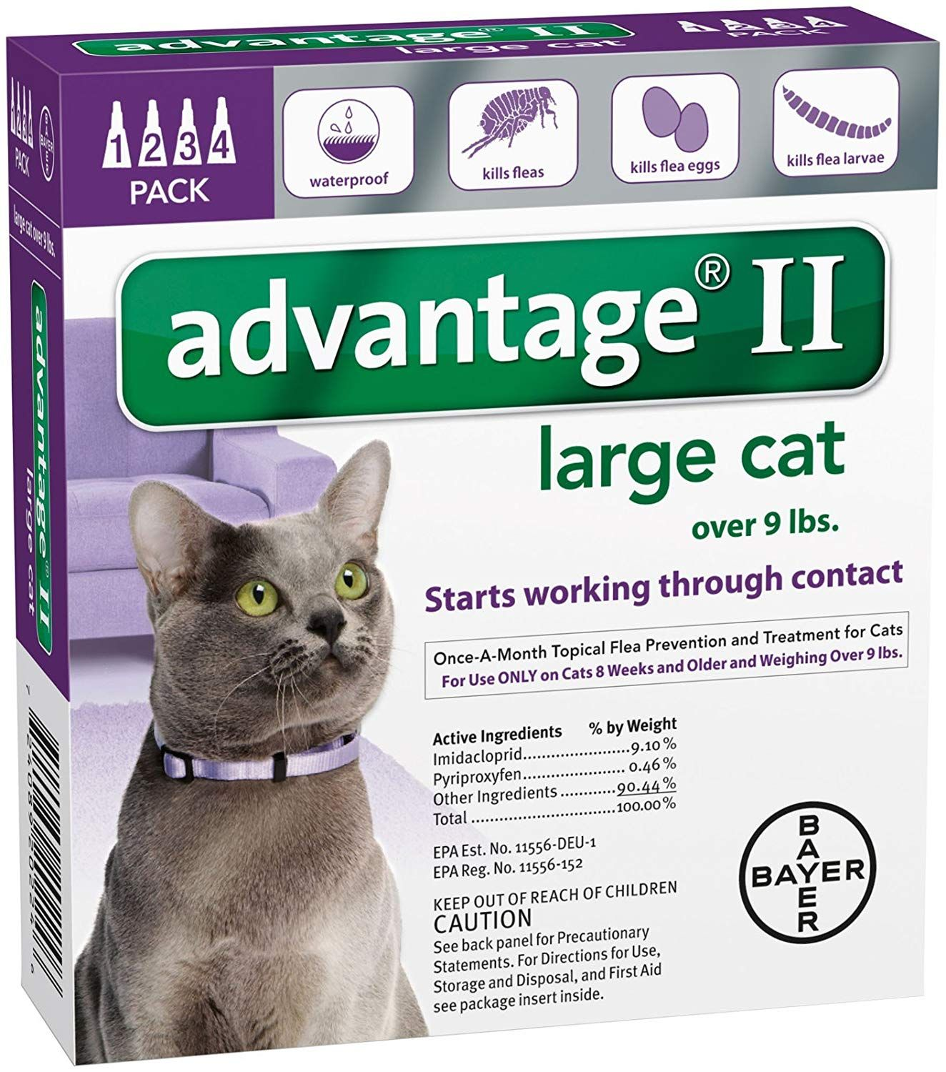 Advantage Ii Large Cat 4 Pack Wonderful Of You To Drop By To See Our Photo This Is Our Affiliate Link In 2020 Large Cats Cat Fleas Cat Pet Supplies