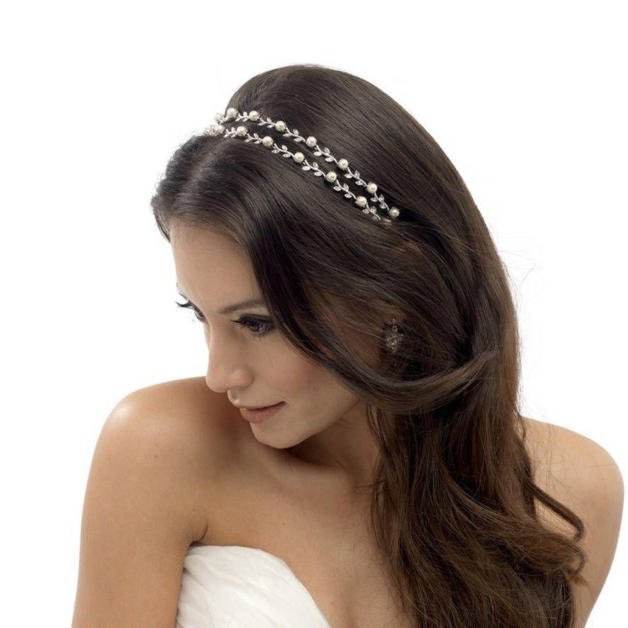 Double Row Wire Alice Hair Band Headband Tiara Wedding Bridal Gold Silver