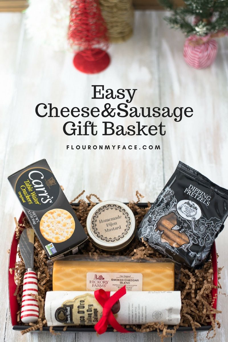 Easy cheese and sausage gift basket recipe cheese gift