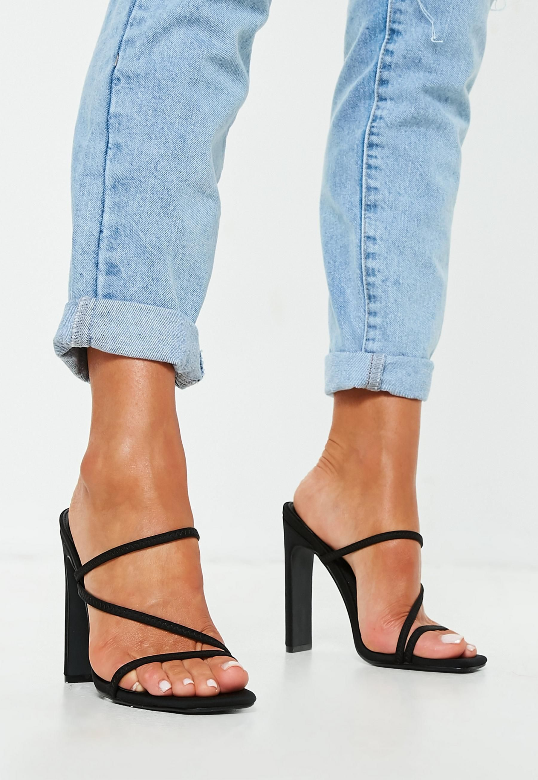 to buy latest design save up to 80% Missguided Black Multi Strap Mules | Sandals outfit, Womens shoes ...