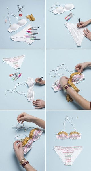 Cool how-to on making your own swimwear from old clothes.