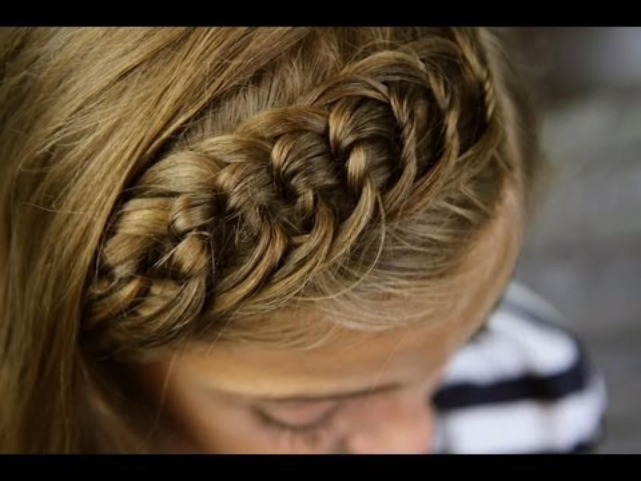 youtube braid master | the knotted headband | bangs or
