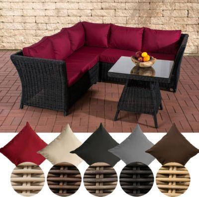 Garten Lounge-Gruppe SANTA LUCIA, 5 mm RUND-Geflecht, 2x Sofa, 1x