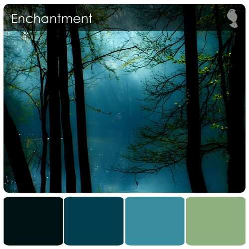 Beautiful for a bathroom or formal dining room (I love sea glass in a dining setting). #colorpalettecopies