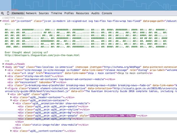 Hidden In The Code Of The Guardian Website We Are Hiring Neat