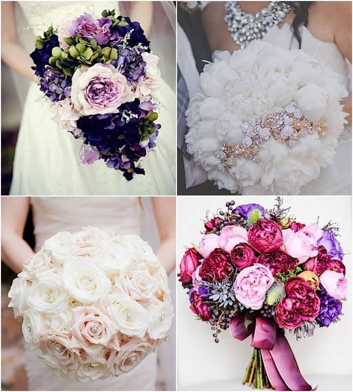 Wedding Bouquets with Elegant Colors Weddings Wedding and