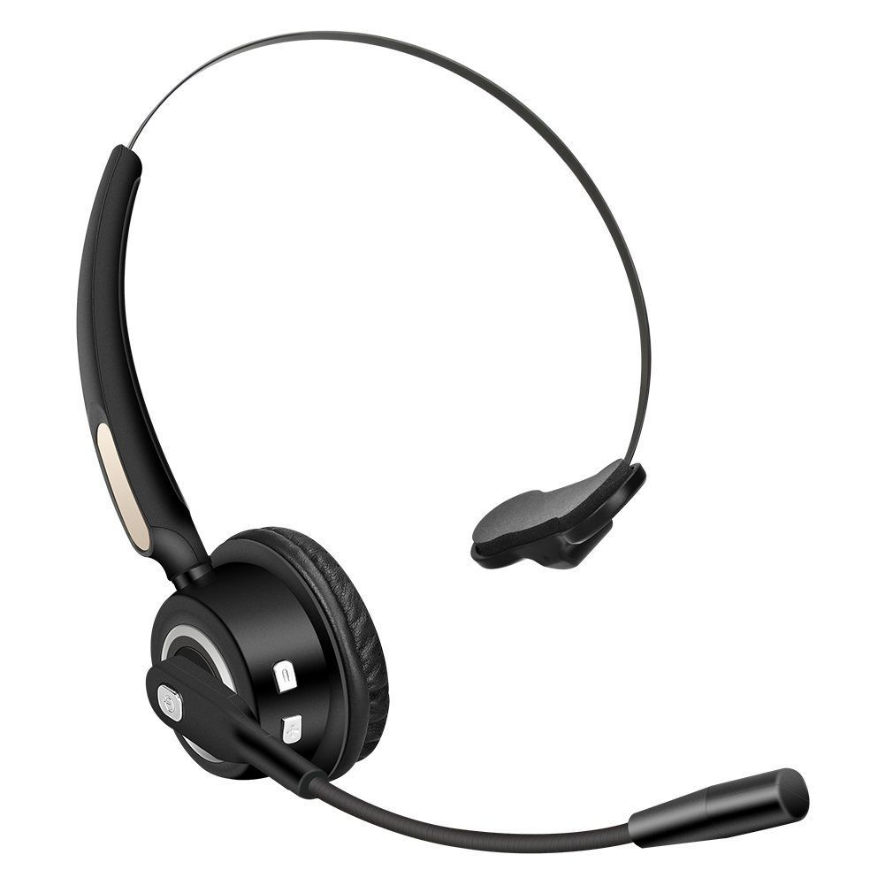Truck Driver Bluetooth Headset Wireless Headphones Mic Noise Canceling Headset With Microphone For Call Center Cell Phone Laptop Noise Cancelling Headset Bluetooth Headset Wireless Headphones