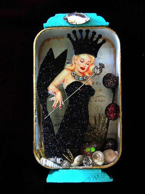 Altered tin Mermaid