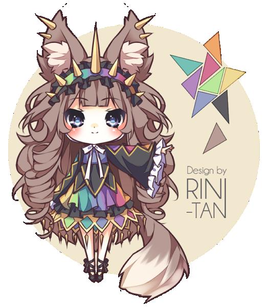 Point Auction Adoptable Rainbow Fox [CLOSED] by Riniuu