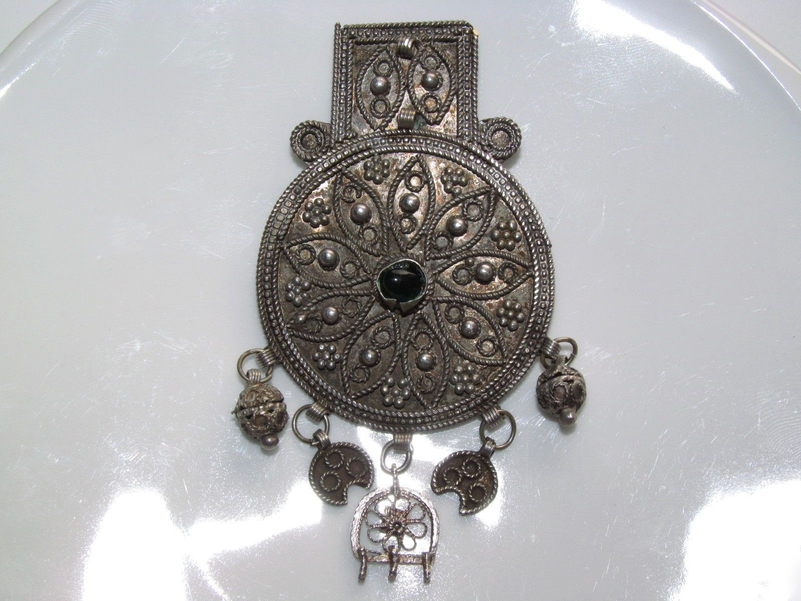 alter Schmuck-Anhänger Brosche Israel Orient vintage israeli pendant ...