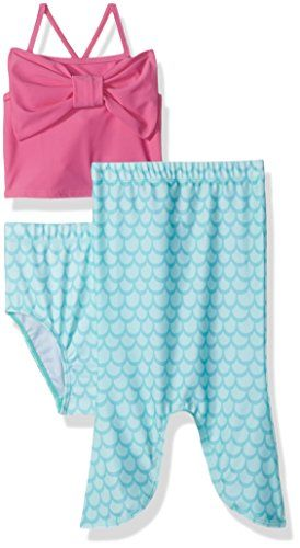 23dce402ad Flap Happy Big Girls Upf 50 3Piece Swim Set Mermaid Tale 5 >>> For more  information, visit image link.Note:It is affiliate link to Amazon.