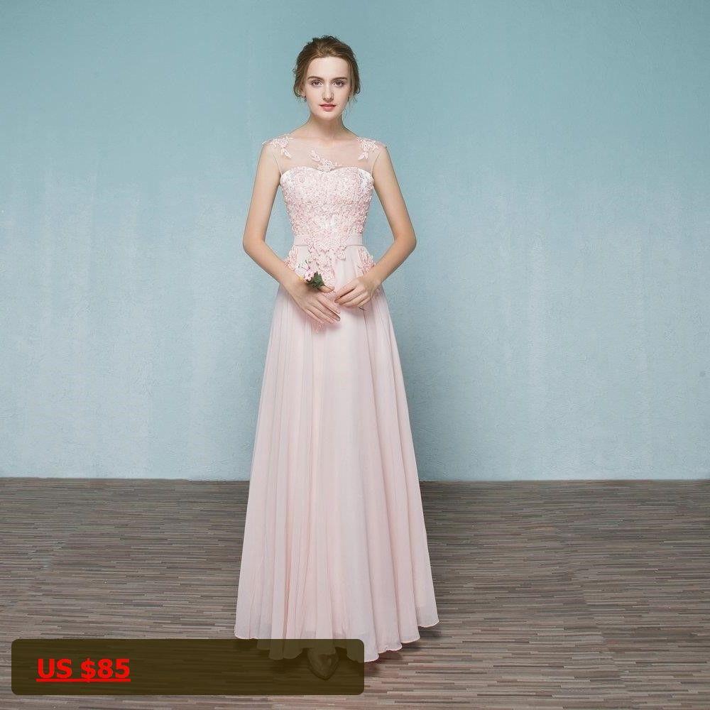 Cap sleeves chiffon wedding long bridemaid dresses with sash custom