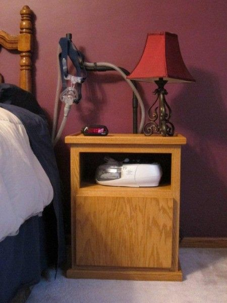 Cpap Bedside Table: Pin By Daniel Rodriguez On Woodworking
