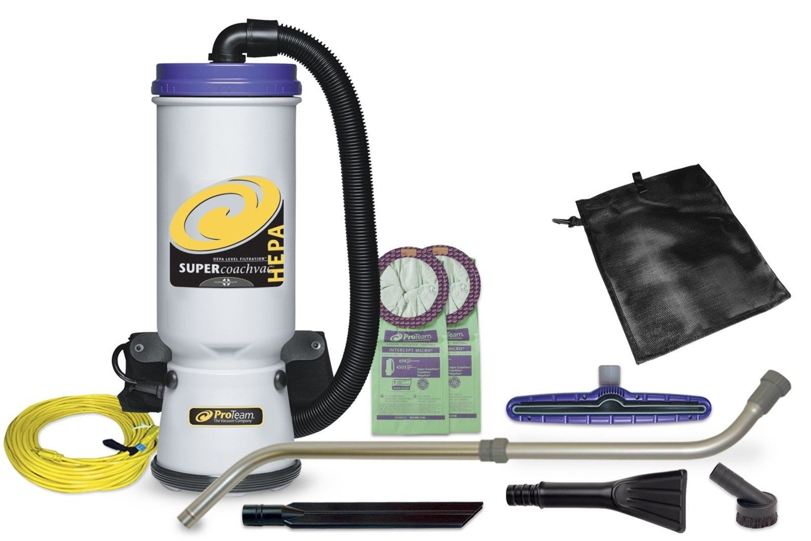 ProTeam Backpack Vacuums Super CoachVac Commercial