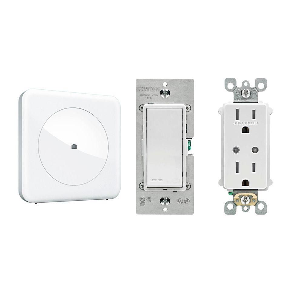 Wink Home Automation Lighting Control Bundle with HUB/Leviton Light ...
