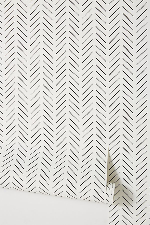 Magnolia Home Pick Up Sticks Wallpaper By In Black Wall Decor At Anthropologie In 2020 Magnolia Homes Home Wallpaper Herringbone Wallpaper