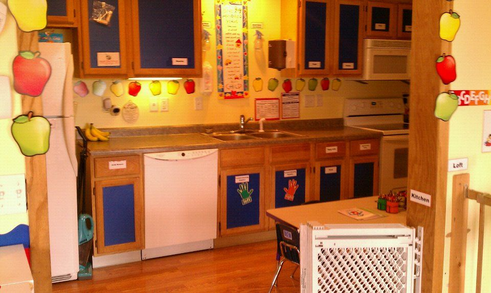 Daycare kitchen daycare set up home childcare daycare - Kitchen set up ideas ...