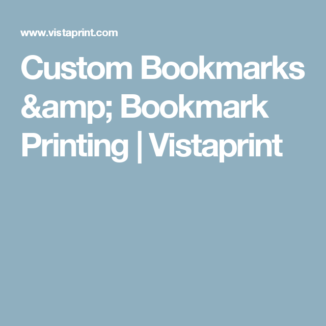 custom bookmarks bookmark printing vistaprint focus tools