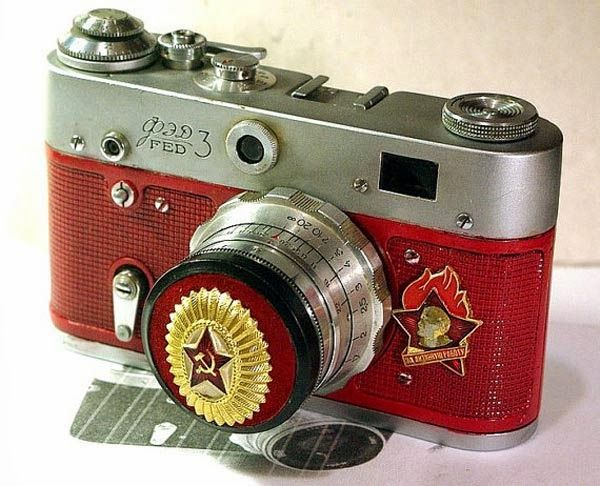 1967 USSR Vintage Red Star FED3 camera Russian LEICA 50year anniversary   from RussianVintage is part of Vintage cameras -