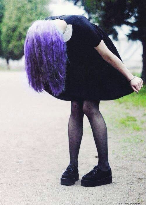 Purple Hair And Creepers | Hair | Pinterest | Grunge Fashion Grunge And Creepers