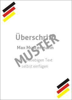 Muster Ehrenurkunde, Vereinsurkunde, Zertifikat, Diplom